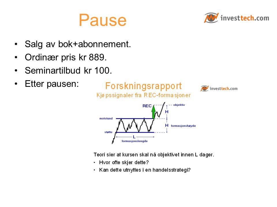 Pause Salg av bok+abonnement. Ordinær pris kr 889.