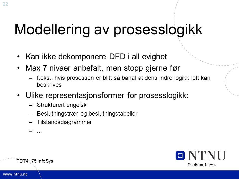 Modellering av prosesslogikk