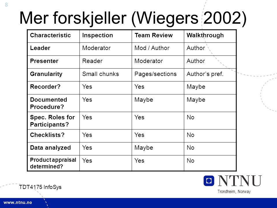 Mer forskjeller (Wiegers 2002)