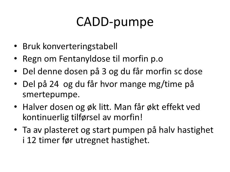 CADD-pumpe Bruk konverteringstabell