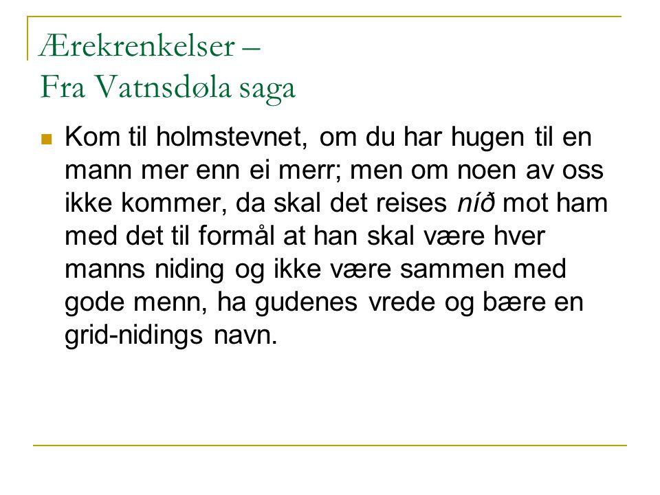 Ærekrenkelser – Fra Vatnsdøla saga