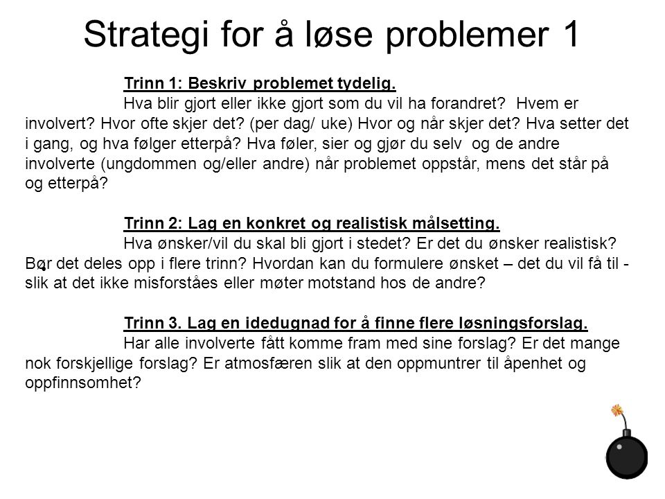 Strategi for å løse problemer 1