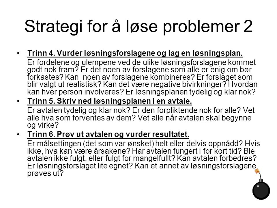 Strategi for å løse problemer 2