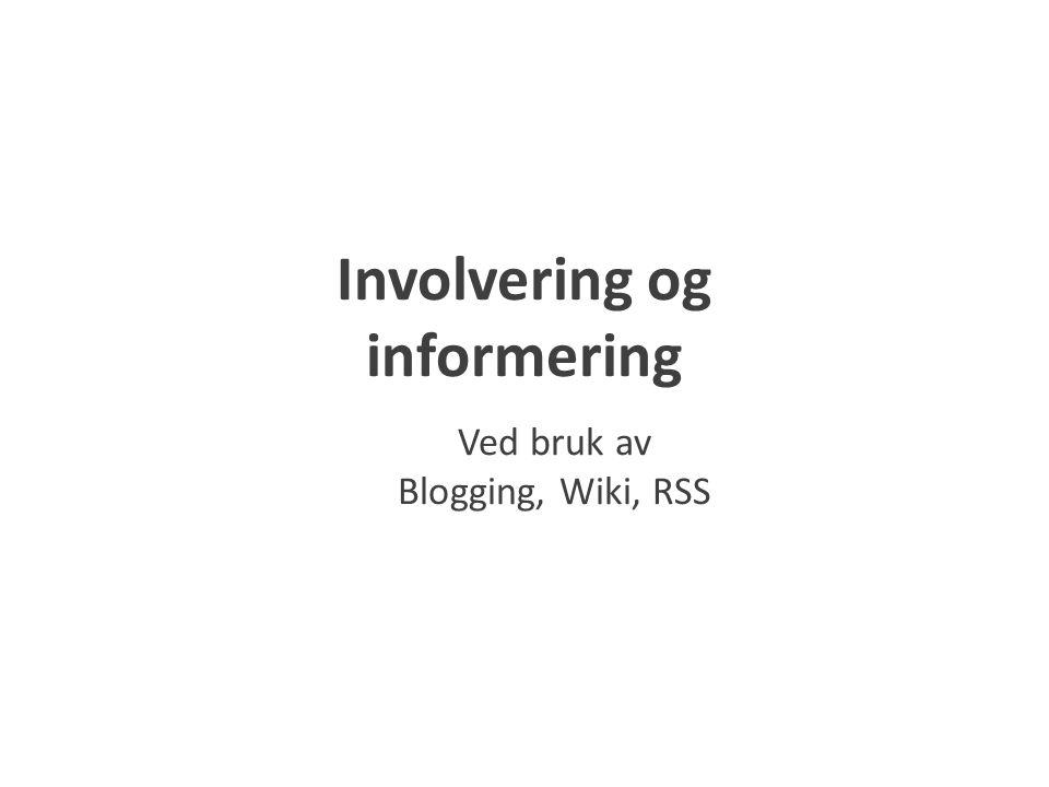 Involvering og informering