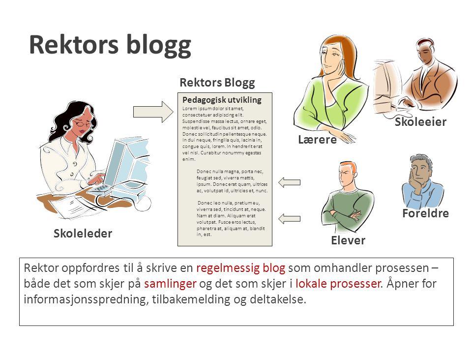 Rektors blogg Rektors Blogg Skoleeier Lærere Foreldre Skoleleder