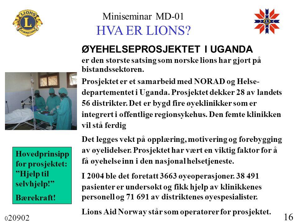 ØYEHELSEPROSJEKTET I UGANDA
