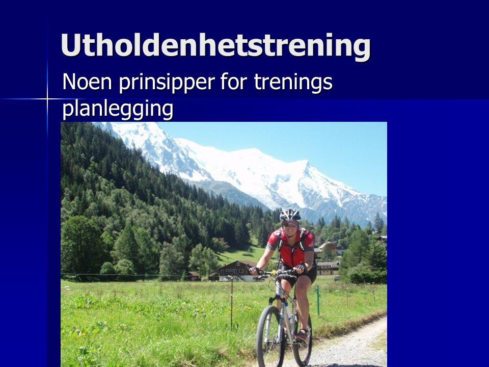 Noen prinsipper for trenings planlegging