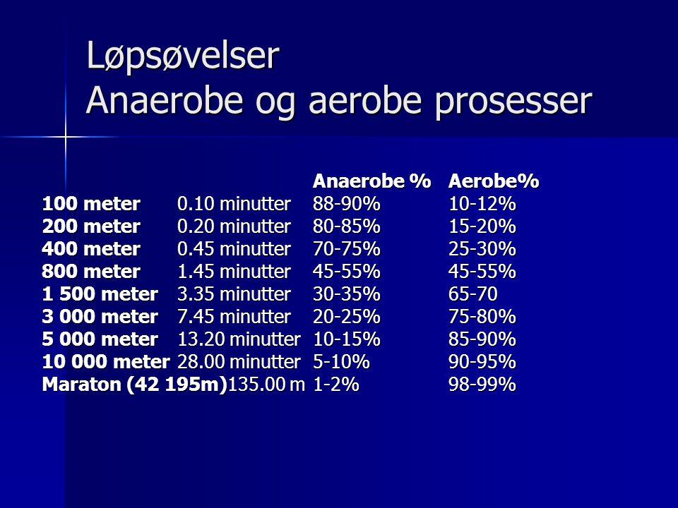 Løpsøvelser Anaerobe og aerobe prosesser