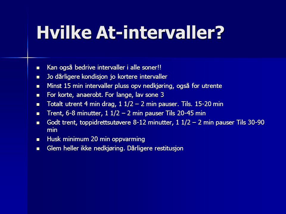 Hvilke At-intervaller