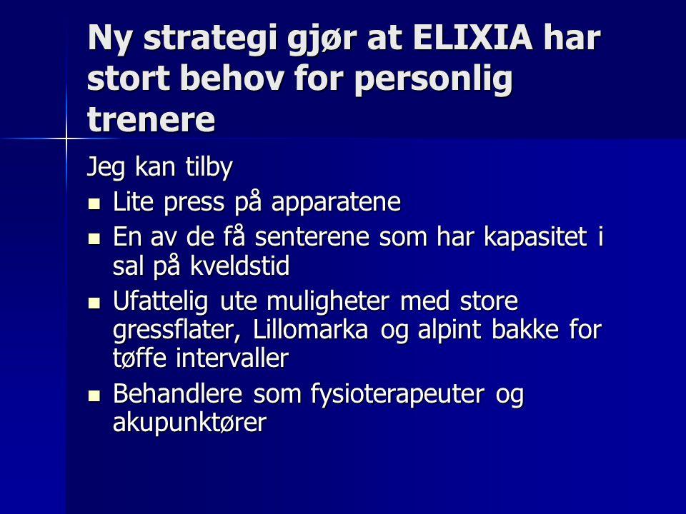 Ny strategi gjør at ELIXIA har stort behov for personlig trenere