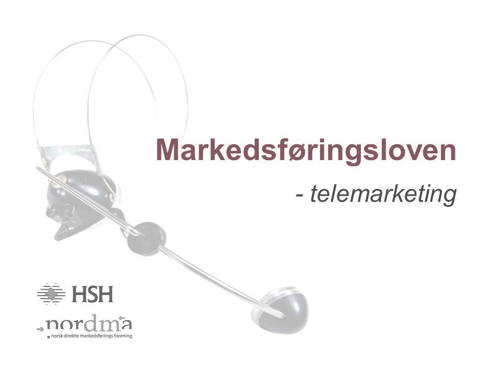 Markedsføringsloven - telemarketing