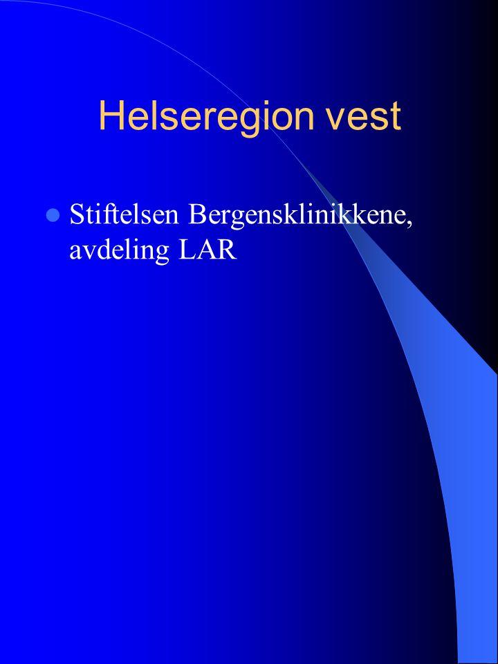 Helseregion vest Stiftelsen Bergensklinikkene, avdeling LAR