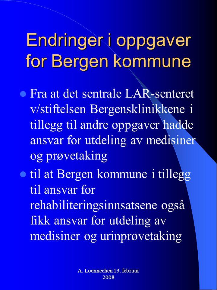 Endringer i oppgaver for Bergen kommune