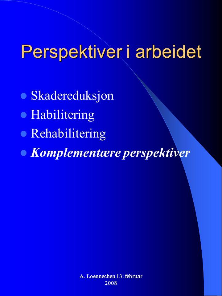 Perspektiver i arbeidet