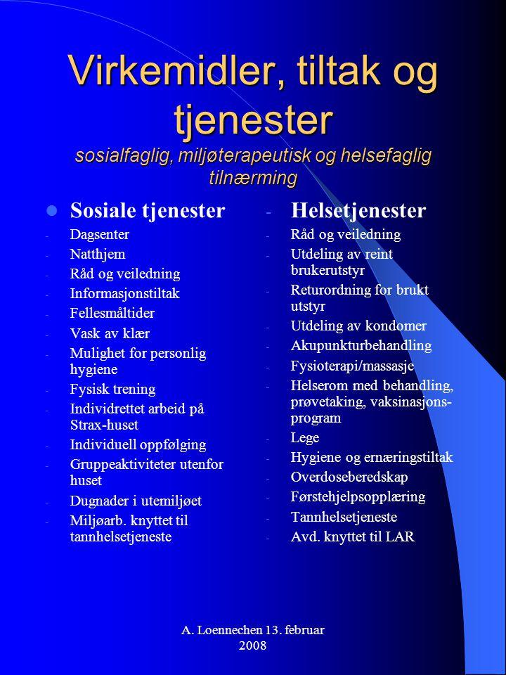 Virkemidler, tiltak og tjenester sosialfaglig, miljøterapeutisk og helsefaglig tilnærming