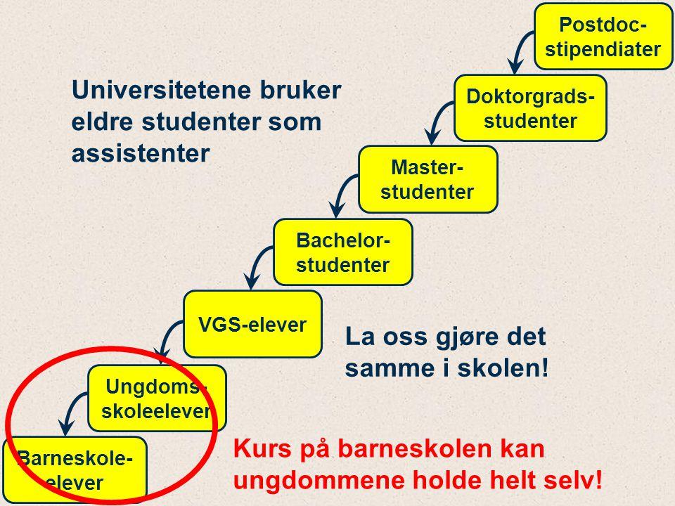 Universitetene bruker eldre studenter som assistenter
