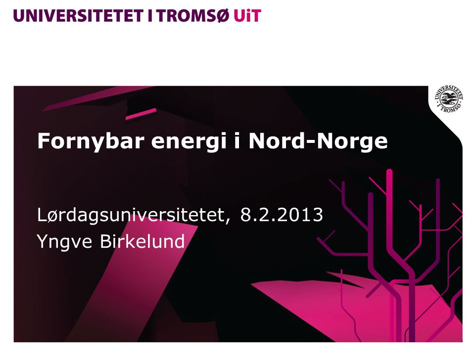 Fornybar energi i Nord-Norge