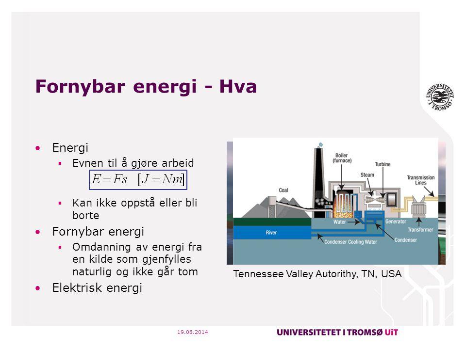 Fornybar energi - Hva Energi Fornybar energi Elektrisk energi