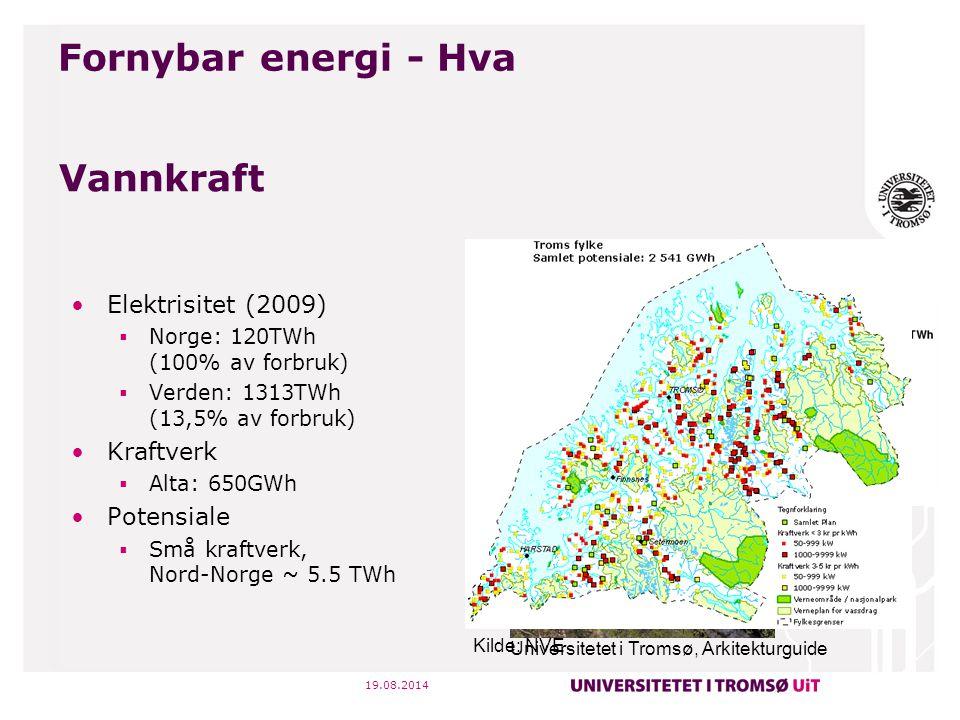 Fornybar energi - Hva Vannkraft Elektrisitet (2009) Kraftverk
