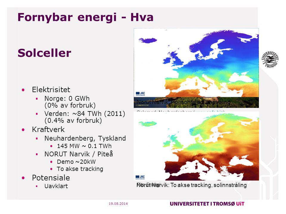 Fornybar energi - Hva Solceller Elektrisitet Kraftverk Potensiale