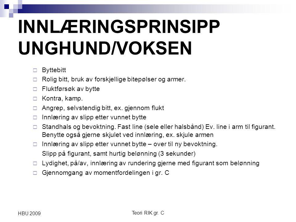 INNLÆRINGSPRINSIPP UNGHUND/VOKSEN