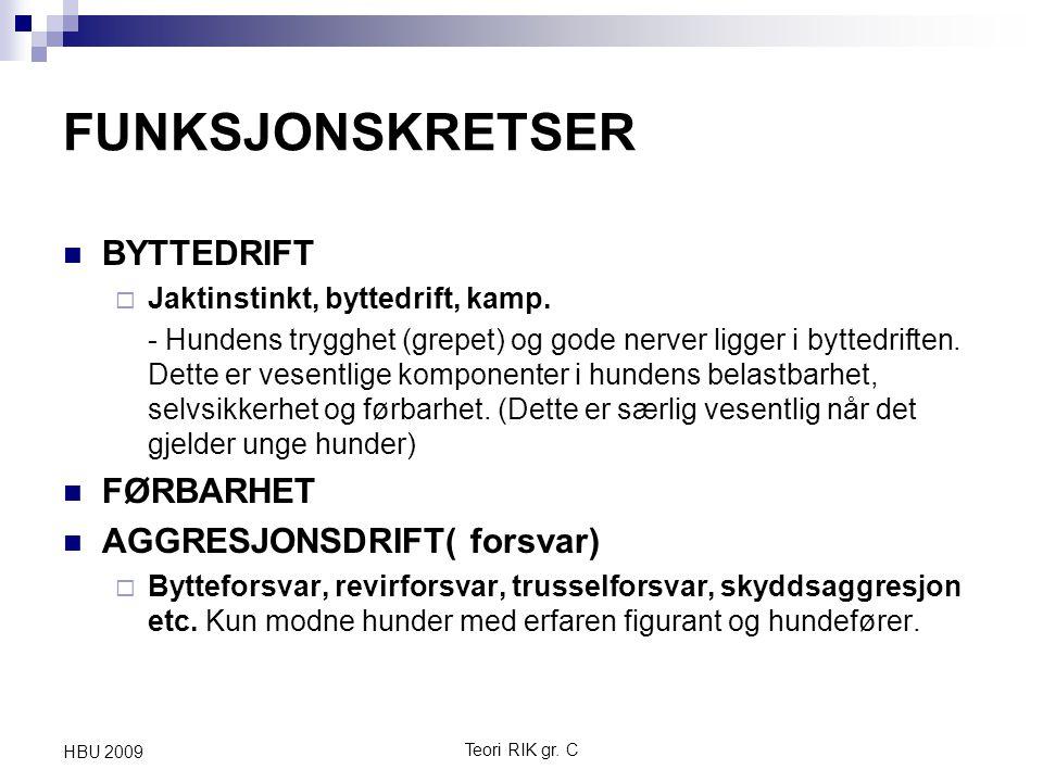 FUNKSJONSKRETSER BYTTEDRIFT FØRBARHET AGGRESJONSDRIFT( forsvar)