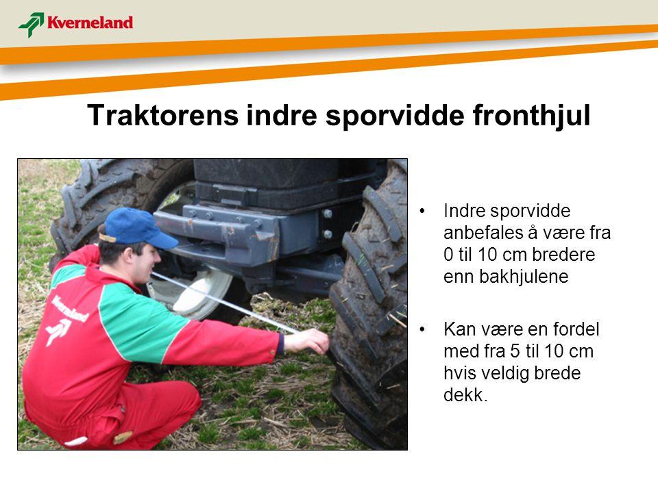 Traktorens indre sporvidde fronthjul