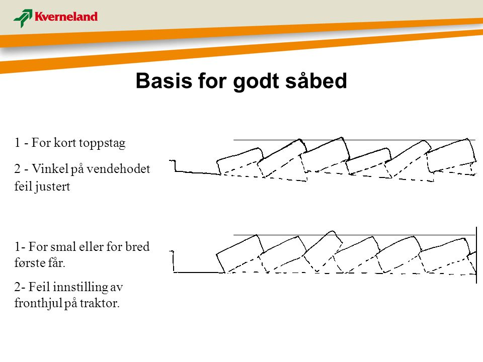 Basis for godt såbed 1 - For kort toppstag