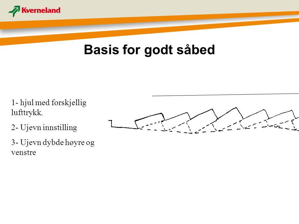 Basis for godt såbed 1- hjul med forskjellig lufttrykk.