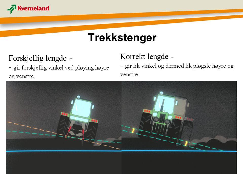 Trekkstenger Korrekt lengde - Forskjellig lengde -