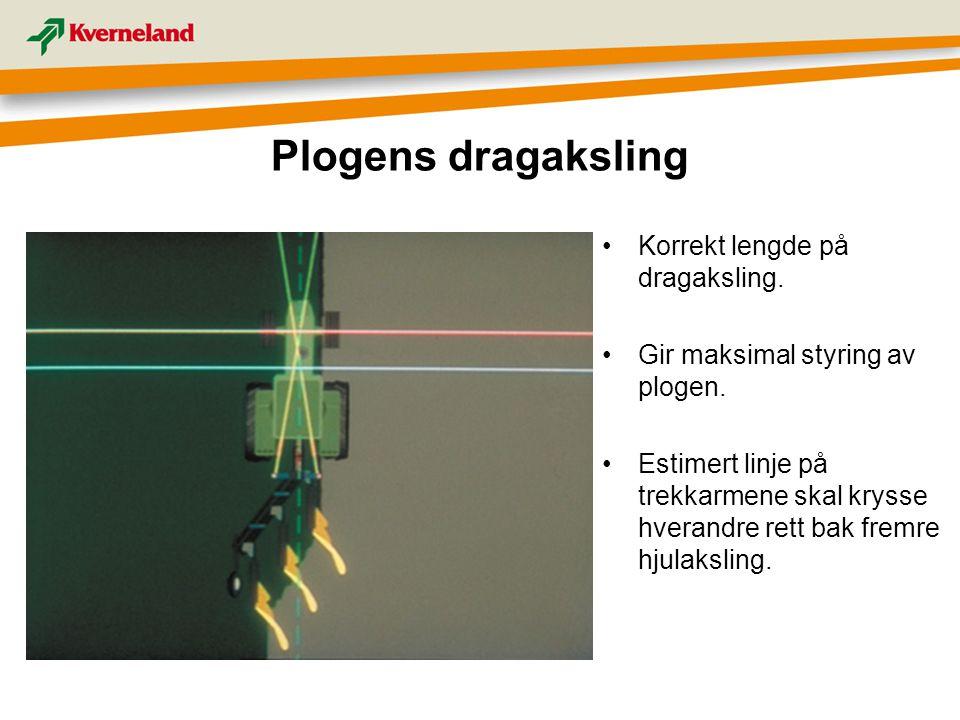 Plogens dragaksling Korrekt lengde på dragaksling.