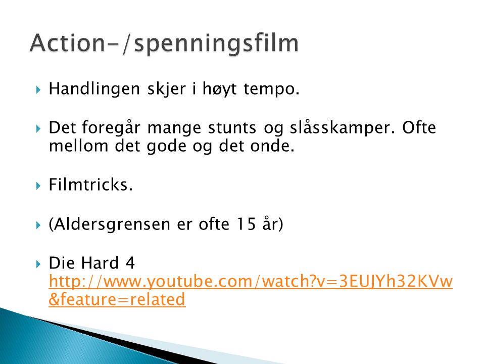 Action-/spenningsfilm