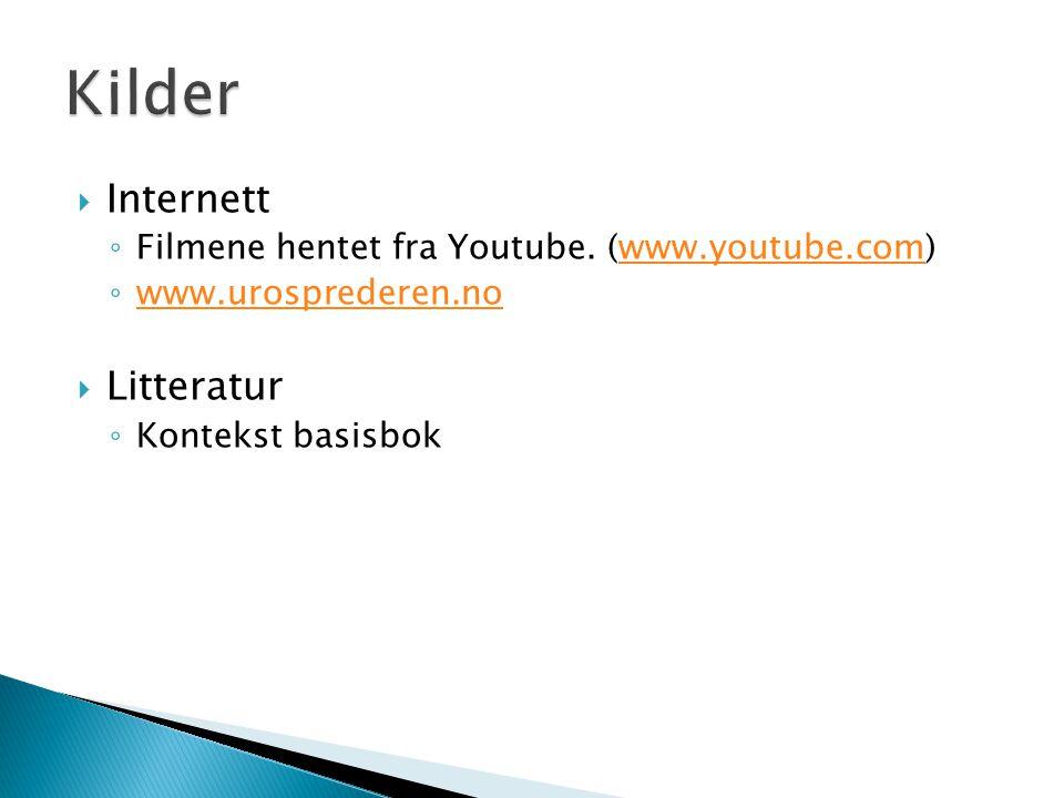 Kilder Internett Litteratur