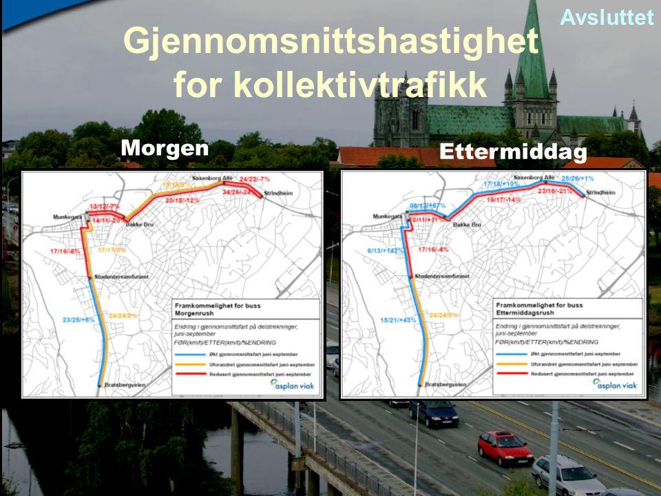 Gjennomsnittshastighet for kollektivtrafikk