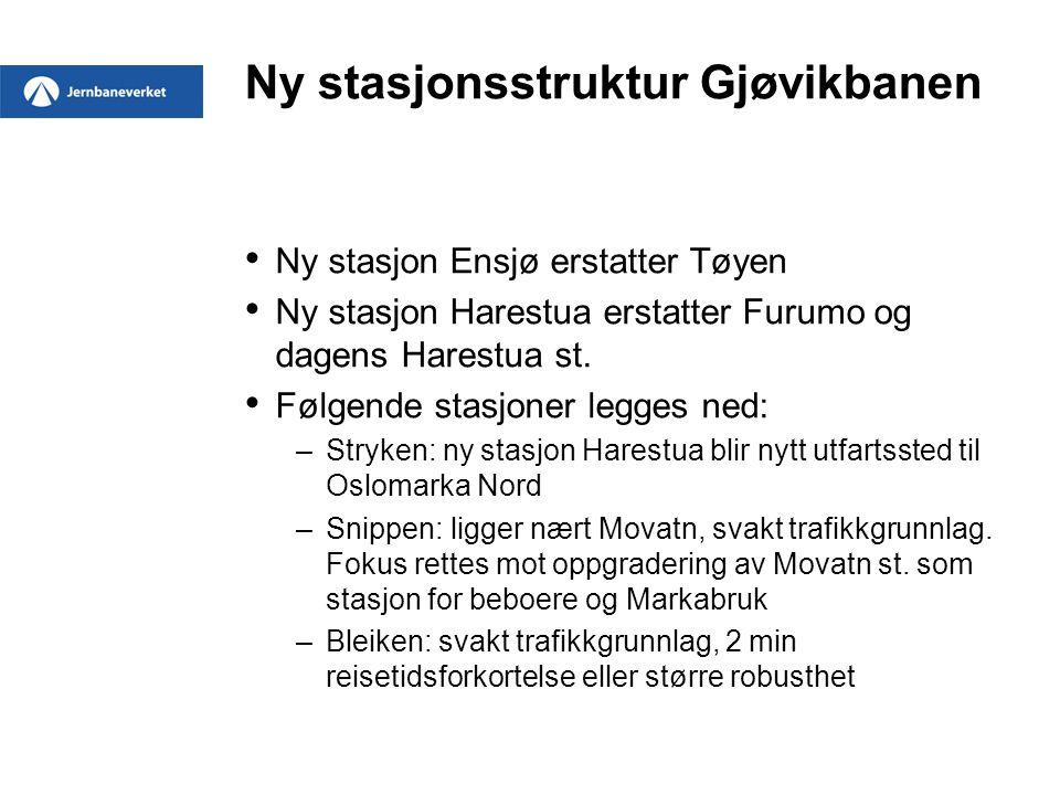 Ny stasjonsstruktur Gjøvikbanen