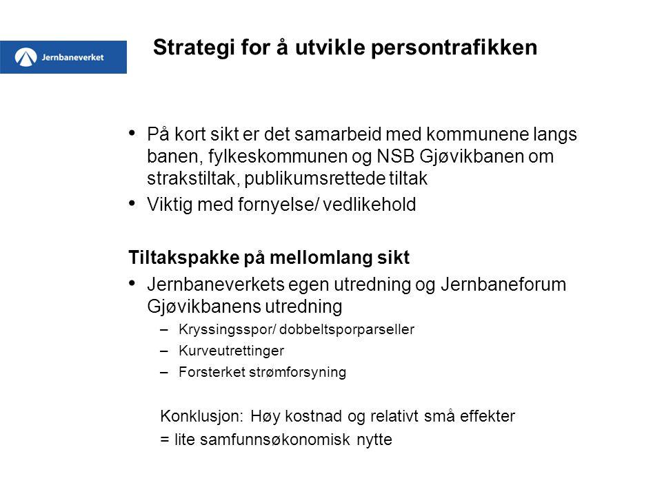 Strategi for å utvikle persontrafikken