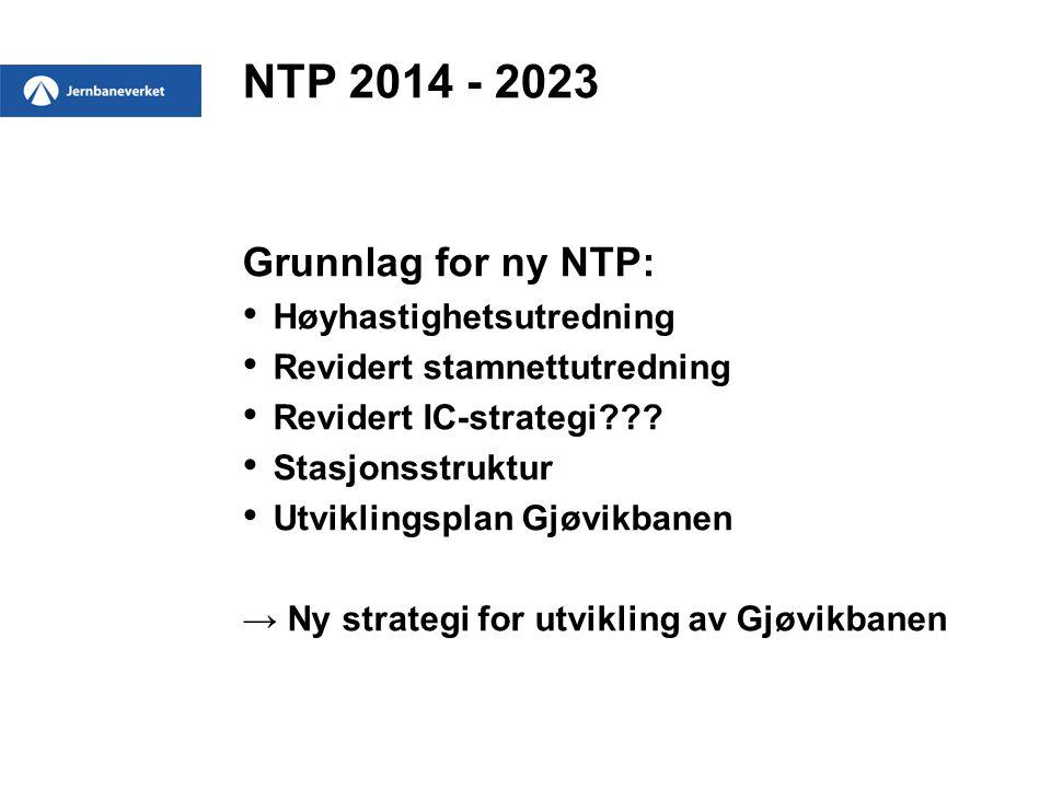 NTP 2014 - 2023 Grunnlag for ny NTP: Høyhastighetsutredning