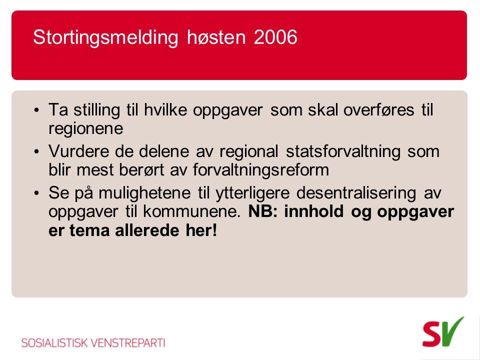 Stortingsmelding høsten 2006