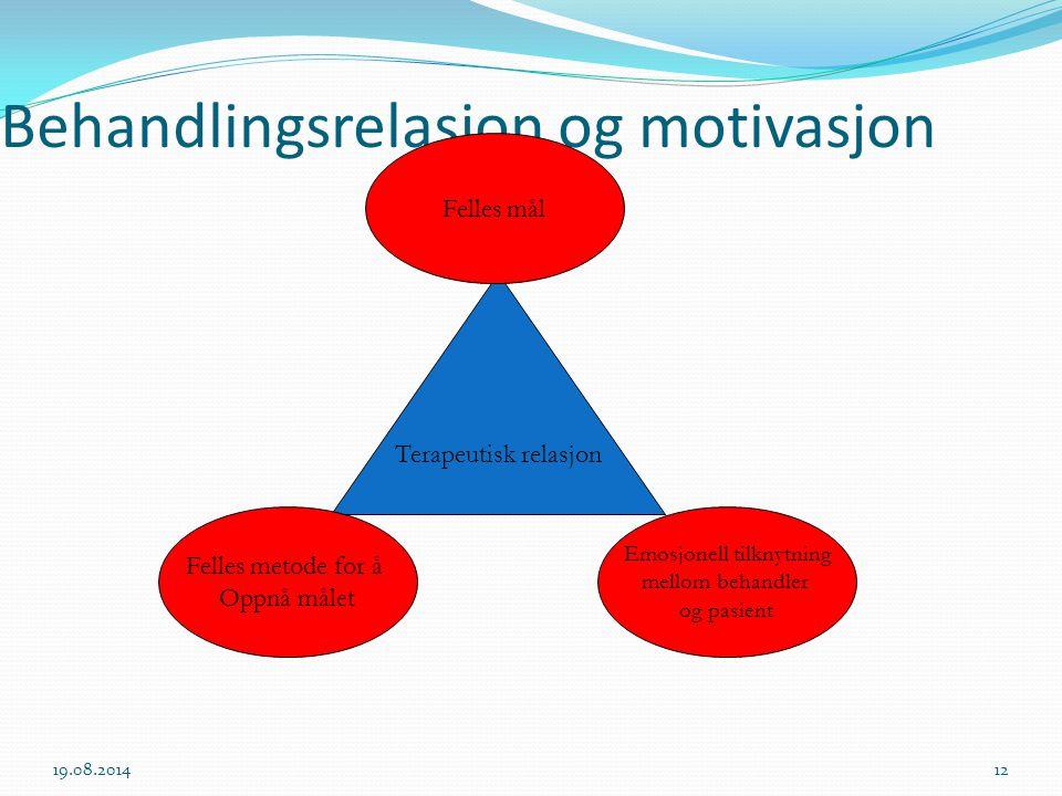 Behandlingsrelasjon og motivasjon