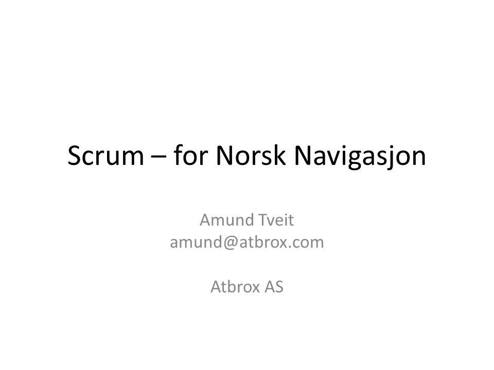 Scrum – for Norsk Navigasjon