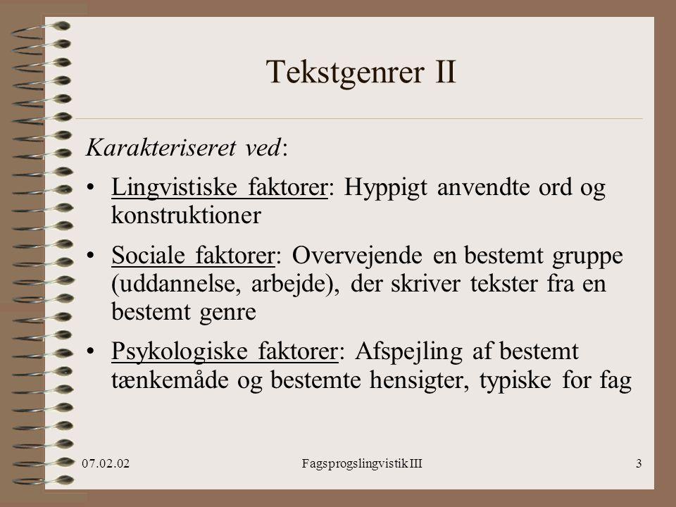Fagsprogslingvistik III