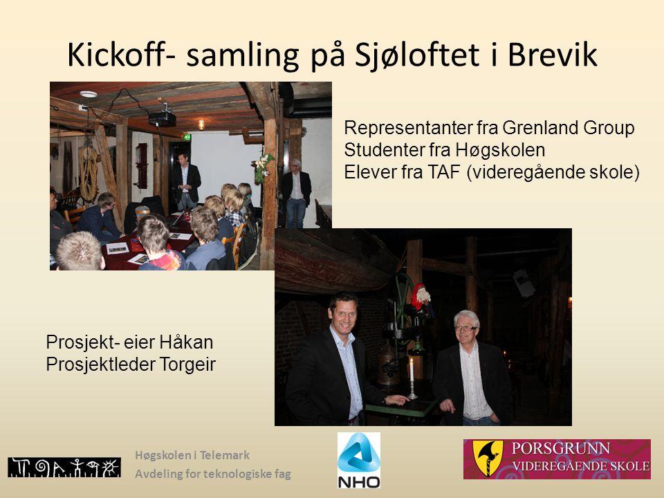 Kickoff- samling på Sjøloftet i Brevik