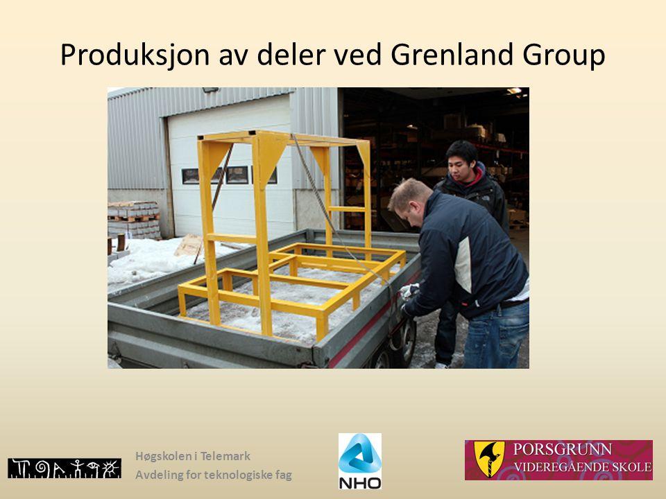 Produksjon av deler ved Grenland Group