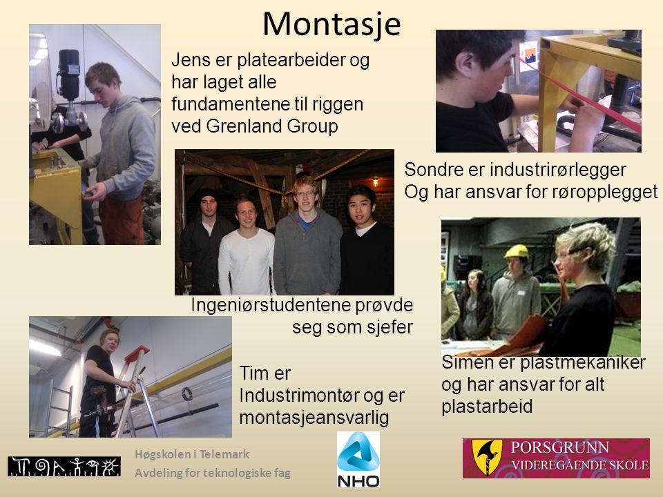 Montasje Jens er platearbeider og har laget alle