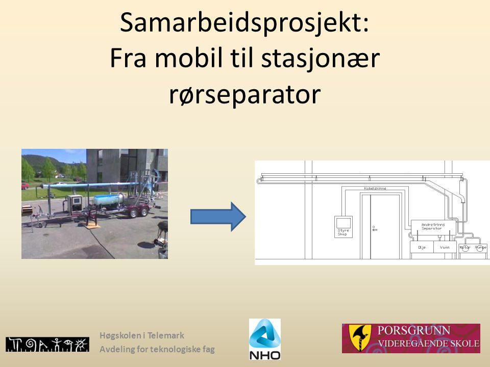 Samarbeidsprosjekt: Fra mobil til stasjonær rørseparator