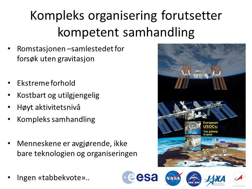 Kompleks organisering forutsetter kompetent samhandling