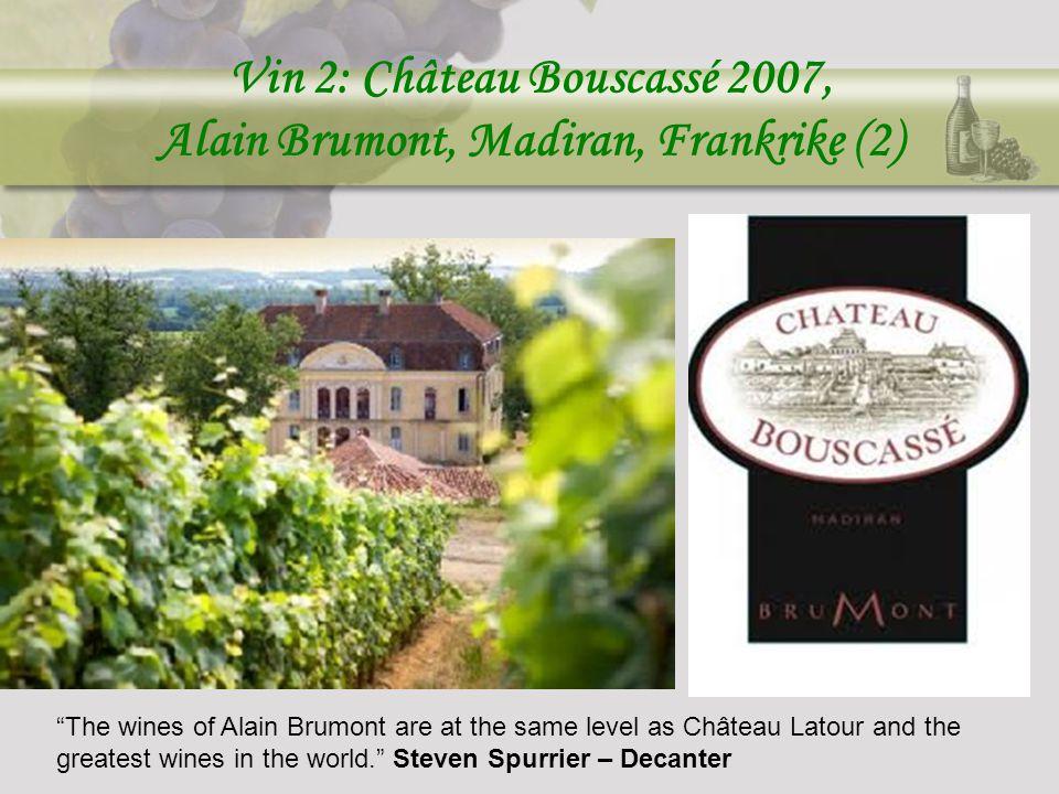 Vin 2: Château Bouscassé 2007, Alain Brumont, Madiran, Frankrike (2)