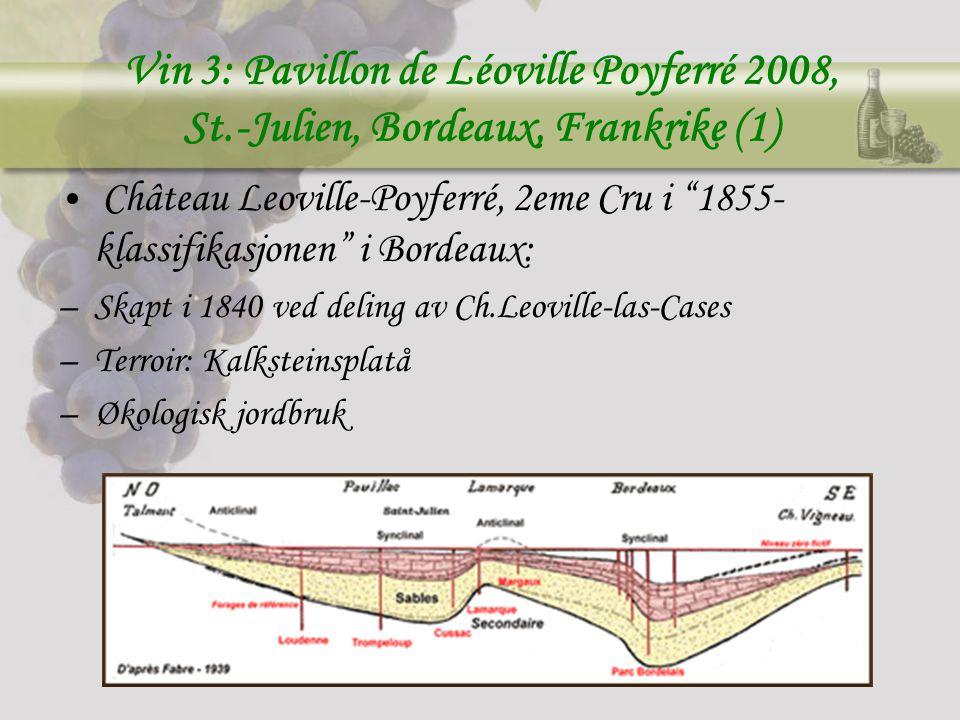 Vin 3: Pavillon de Léoville Poyferré 2008, St
