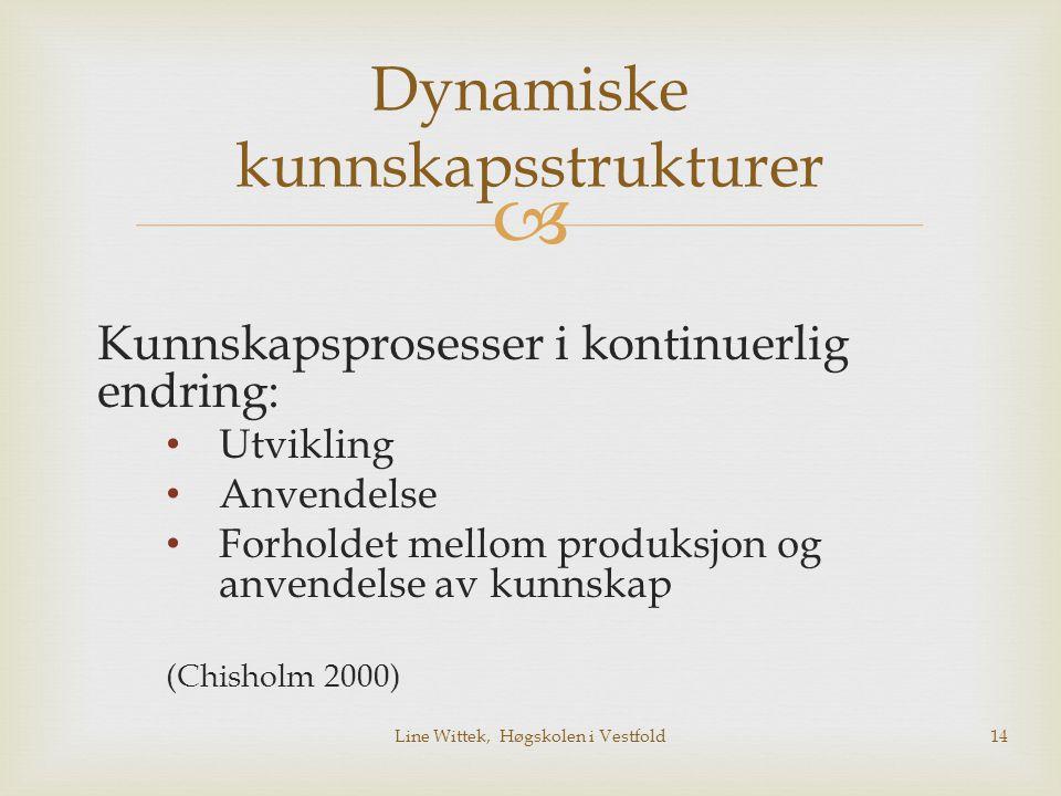 Dynamiske kunnskapsstrukturer