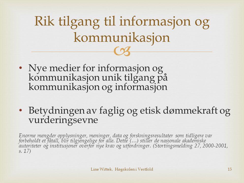 Rik tilgang til informasjon og kommunikasjon